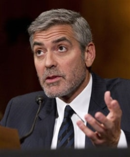 Actor George Clooney testifying about Sudan before US Congress, Mar. 14, 2012