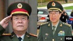 郭伯雄(左) 和徐才厚