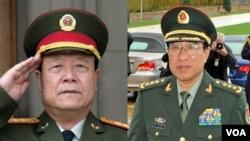 中共前中央军委副主席郭伯雄和徐才厚