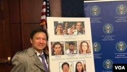 Ông Nguyễn Đình Thắng, Chủ tịch BPSOS tại buổi họp báo của USCIRF tại Quốc hội Hoa Kỳ, ngày 6/4/2017.