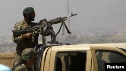 Binh sĩ Afghanistan tuần tra tại thủ đô Kabul