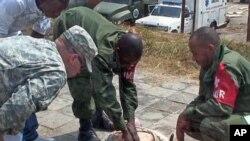Des soldats congolais et des instructeurs américains à Kinshasa