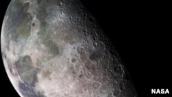 FILE - Image of the moon, from the Galileo spacecraft, Dec. 7, 1992.