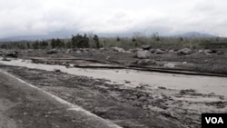 Sungai Putih di Magelang setelah Merapi meletus.