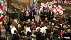 Сторонники и члены партии «Единое национальное движение»