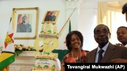 Zimbabwe President Robert Mugabe and his wife, Grace, at 92nd Birthday