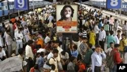 擁擠的印度火車站。(2009年資料照片)