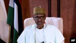 FILE - Nigeria's President Muhammadu Buhari.