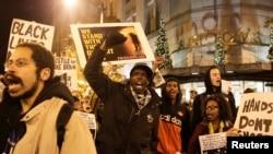 Manifestaçõs em Ferguson. Nov 24. 2014
