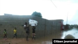 Bairro Aníbal Rocha, Calemba 2, inundado depois das chuvas (Foto de Arquivo)
