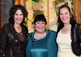 Howard Miller's daughters (from left) Wendy Miller, Sara Arnon and Julie Miller-Soros.