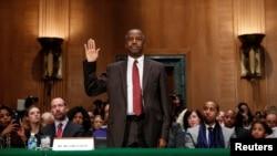 Ben Carson avant sa confirmation au Sénat des Etats-Unis le 12 janvier 2017.