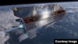 Satelit Gravity Eropa atau GOCE terbakar dan meledak ketika memasuki atmosfer bumi Senin pagi (11/11).