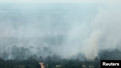 Asap dari kebakaran hutan di Riau (foto: Dok)