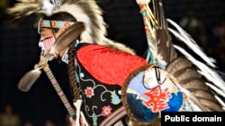 Pow wow dancer performing at the Smithsonian's National Museum of the American Indian National Pow Wow, Washington, D.C., August 11, 2007