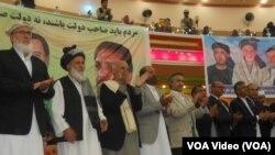 اشرف غنی احمدزی در هرات در جمع از هوادارانش