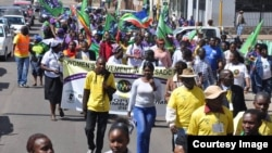 A large number of people staged protests in the run-up to the SADC Summit urging leaders to take care of their interests. (Photo: Courtesy Image)