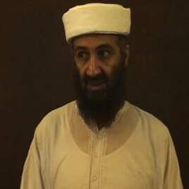 Osama bin Laden is shown speaking in this undated image taken from video provided by the U.S. Department of Defense and released on Saturday, May 7, 2011.