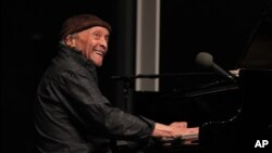 Pianist Cecil Taylor, 87, who revolutionized jazz by launching the free-jazz movement in the late '50s and early '60s, performs in an unannounced second set at the Whitney Museum of American Art in New York, April 14, 2016.