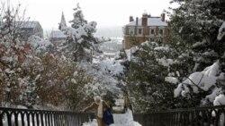 با ادامه برف و سرما در اروپا، پرواز هواپیماها و حرکت ترن ها متوقف شد