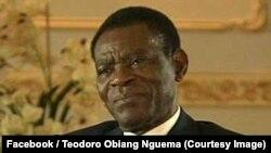 Le président équato-guinéen Teodoro Obiang Nguema, 3 janvier 2017. (Facebook/ Teodoro Obiang Nguema)