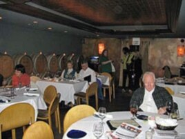 Audience members enjoy a meal at Herbie's Restaurant before a Saint Louis Science Center Science Café.