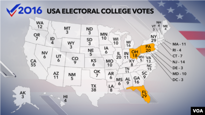 Electoral College Meets on Monday to Choose US President
