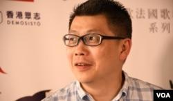 香港進步教師同盟成員陳智聰。(美國之音湯惠芸)