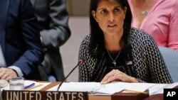 美国常驻联合国代表黑利大使(资料照片)