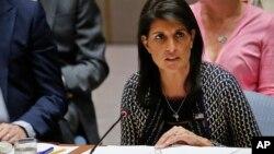 니키 헤일리 유엔 주재 미국대사.