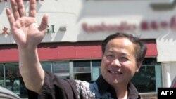陳維明當年揮別洛杉磯(資料照片)