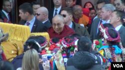 达赖喇嘛星期三抵达华盛顿,出席国家祈祷早餐会。