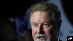 U.S band member of The Eagles, Don Henley, arrives before a screening of History of The Eagles Part One, April 25, 2013.