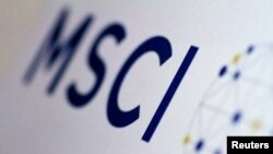 The MSCI logo is seen in this June 20, 2017, illustration.