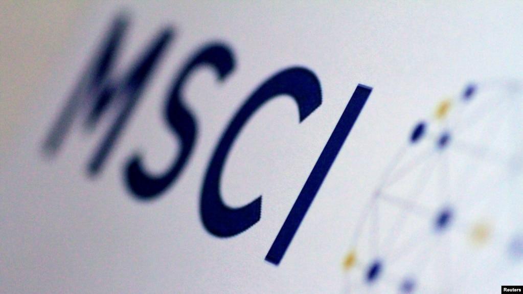 国际知名指数公司MSCI明晟的标志(2017年6月20日)。