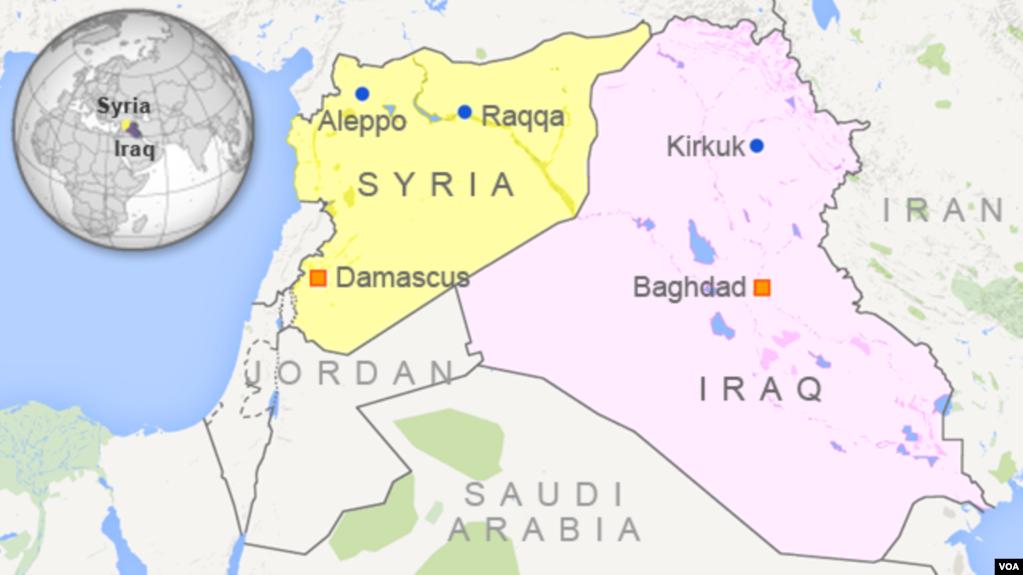 Map Showing Raqqa Syria