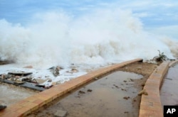 Tropical Cyclone Chapala batters Mukalla, Yemen, Nov. 2, 2015.