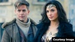 "Chris Pine and Gal Gadot in ""Wonder Woman."" (Warner Bros. Entertainment)"