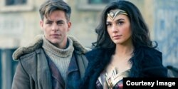 "Chris Pine and Gal Gadot in ""Wonder Woman."" (Warner Bros. Entertainment)"