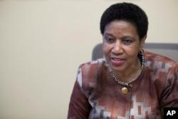 ARSIP - Phumzile Mlambo-Ngcuka, Wakil Sekjen PBB dan Direktur Eksekutif UN Women, berbicara dalam wawancara dengan The Associated Press di New York, 7 Maret 2018