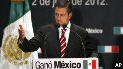 Enrique Peña Nieto celebra su triunfo en las elecciones presidenciales mexicanas de este domingo.
