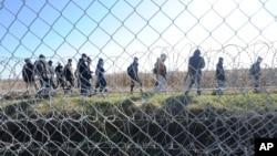 Ograda na granici Mađarske i Srbije