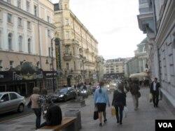 莫斯科市中心。(美國之音白樺攝)