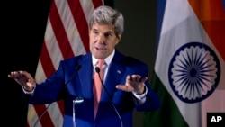 El secretario de Estado de EE.UU., John Kerry, habló el miércoles, 31 de agosto de 2016, a alumnos del Instituto Indio de Tecnología, en Nueva Delhi.