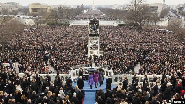 Hàng trăm ngàn người chứng kiến lễ tuyên thệ nhậm chức nhiệm kỳ 2 của Tổng thống Barrack Obama, 21/1/13
