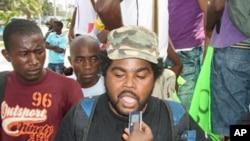 """Dionísio Casimiro """"Carbono"""", um dos organizadores da manifestação de 2 de Setembro em Luanda."""