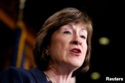 Senadora Susan Collins, republicana por el estado de Maine.