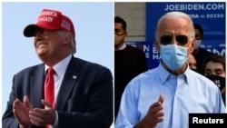 Donald Trump and Joe Biden held meetings in Florida on the same day