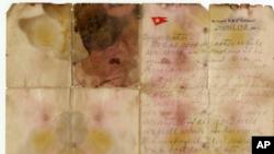 Una carta escrita por uno de los pasajeros del Titanic un día antes de que el barco se hundiera fue vendida por 126.000 libras (166.000 dólares) durante una subasta en el Reino Unido.