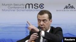 Le Premier ministre russe Dmitri Medvedev à la conférence de sécurité de Munich, le 13 février 2016. (REUTERS/Dmitry Astakhov/Sputnik/Pool)